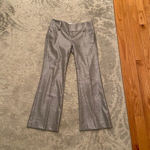 Alice and Olivia Silver flare pants